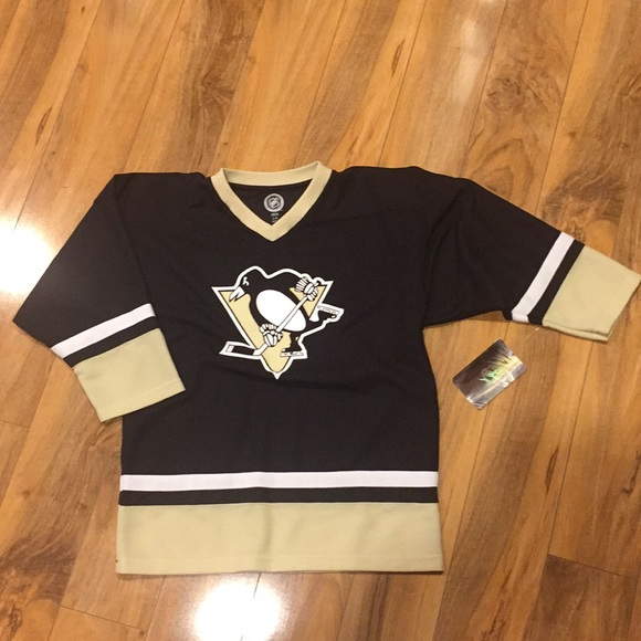 Youth NHL Pittsburgh Penguins hockey jersey 12 14 50299da38